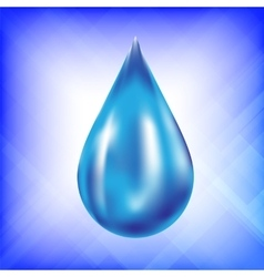Realistic water drop icon vector