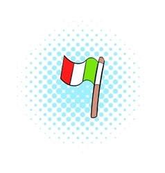 Italy flag icon comics style vector