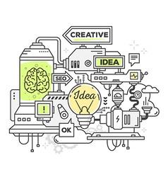 Creative professional mechanism to develo vector