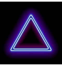 Neon abstract triangle vector