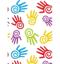 Abstract hands seamless background vector image vector image
