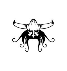 Ancient viking head logo man head logotype vector