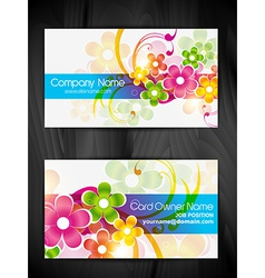 beautiful floral design business card design vector image vector image