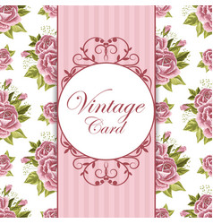 beautiful vintage card vector image