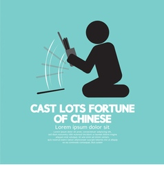 Cast Lots Fortune Of Chinese vector image