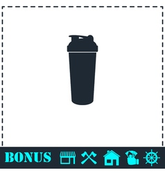 Cocktail shaker icon flat vector image