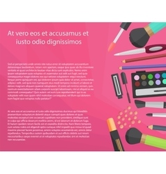 Colorful cosmetics concept with text vector