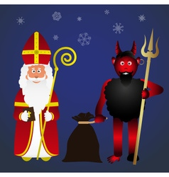 Colorful saint nicolas character holiday eps10 vector