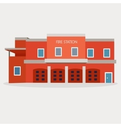 Flat of fire station vector