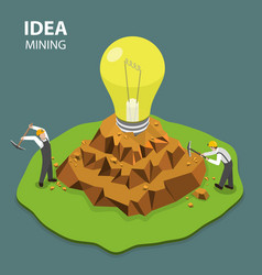 Idea mining flat isimetric vector