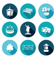 Landscaping Icons Set vector image vector image