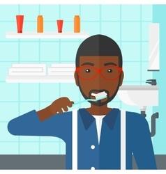 Man brushing teeth vector
