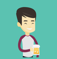 man drinking beer vector image vector image