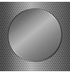 metal circle vector image vector image