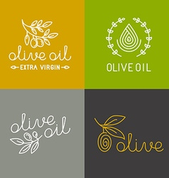 olive oil icons and logos vector image vector image