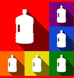 Plastic bottle silhouette sign set of vector