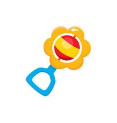 rattle toy flat isolated vector image vector image