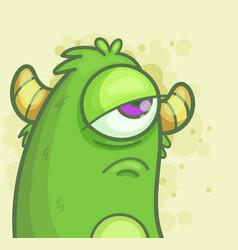 sad monster vector image vector image