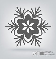 Snowflake icon isolated black on white background vector image