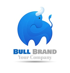 Standing bull logo design template for your vector
