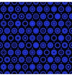 Star and circle seamless pattern vector