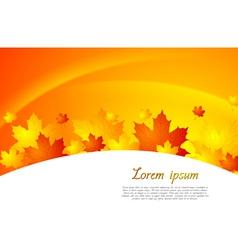 Wavy autumn background vector image