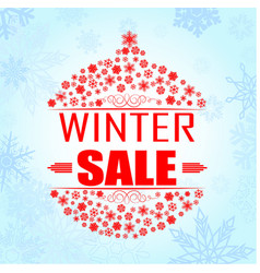 Winter sale background banner vector