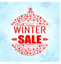 winter sale background banner vector image vector image