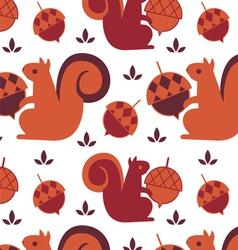 Squirrel seamless backound vector