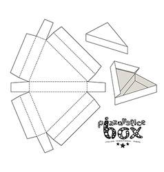 Stock box for pizza slice vector