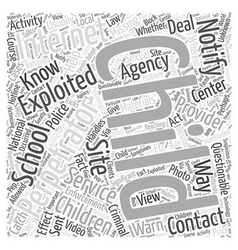 Bwi know who you should contact word cloud concept vector