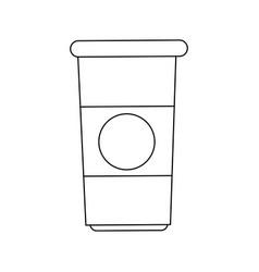 Paper coffee cup portable fresh aroma break vector