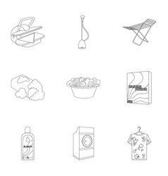 Washing machine powder iron and other equipment vector