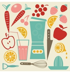 Summer kitchen vector