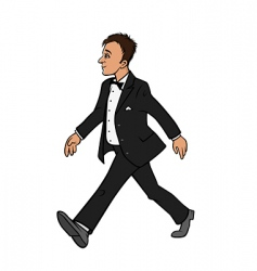 man in tuxedo vector image
