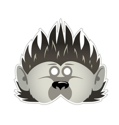 Mask hedgehog vector