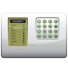The panel of the security system vector