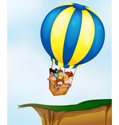 Kids in balloon vector image
