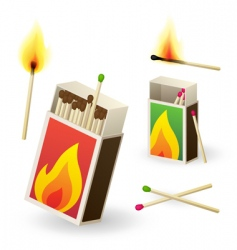 Matchboxes vector