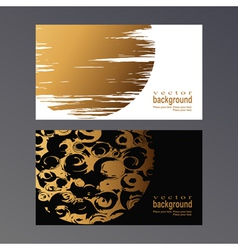 Golden vcard vector