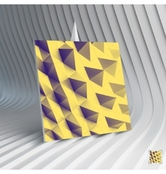 Business card abstract geometric polygonal vector