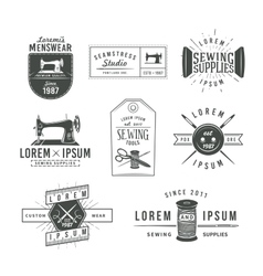 Set of vintage tailor labels emblems and design vector