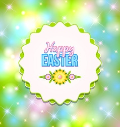 Happy easter badge vector