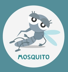 a cartoon mosquito vector image