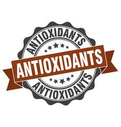 Antioxidants stamp sign seal vector