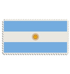 Argentinian flag stamp vector image