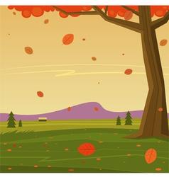 Autumn in the mountain vector