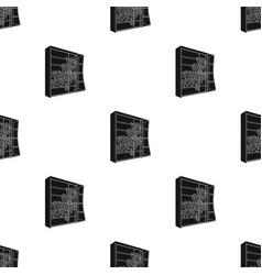 Black bedroom wardrobe with cellswardrobe with a vector