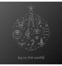Black card with greetings for the Christmas and vector image vector image