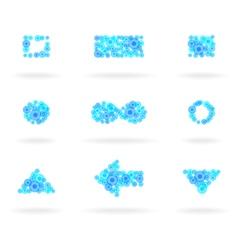 blue design elements vector image vector image